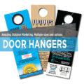 Printing door hangers