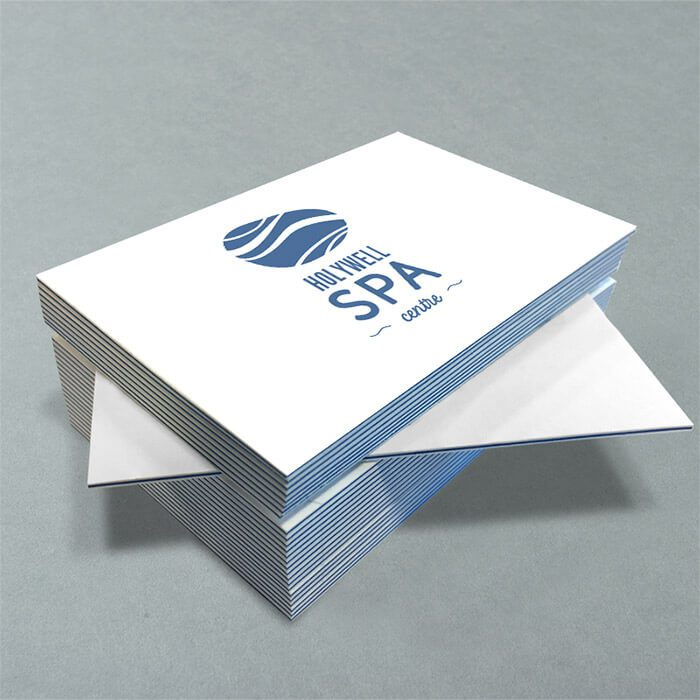 Silk coated business cards
