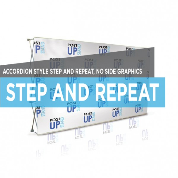 Accordion Style Printed Step and repeat Stand