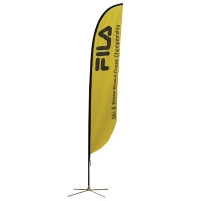 15.75 Ft. Medium Feather Flag Graphic Package with X Base