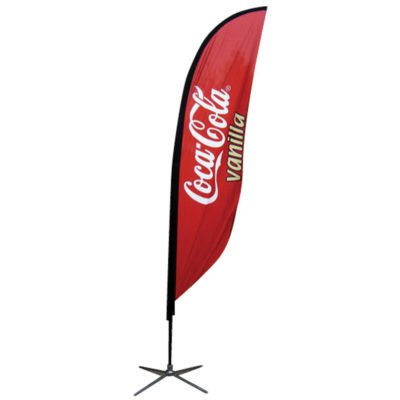 9.84 Ft. Small Feather Flag Graphic Package with X Base