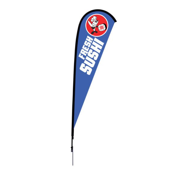 12 Ft. Large Size Sunbird Flag Graphic Package With Spike Base