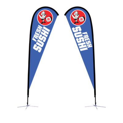 12 Ft. Large Sunbird Flag Graphic Package With X Base