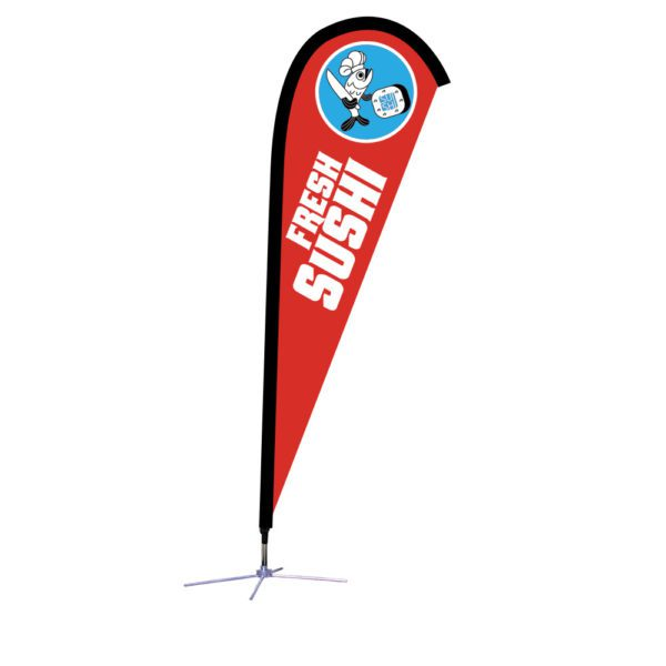 7.5 Ft. Small Size Sunbird Flag Graphic Package With X Base.