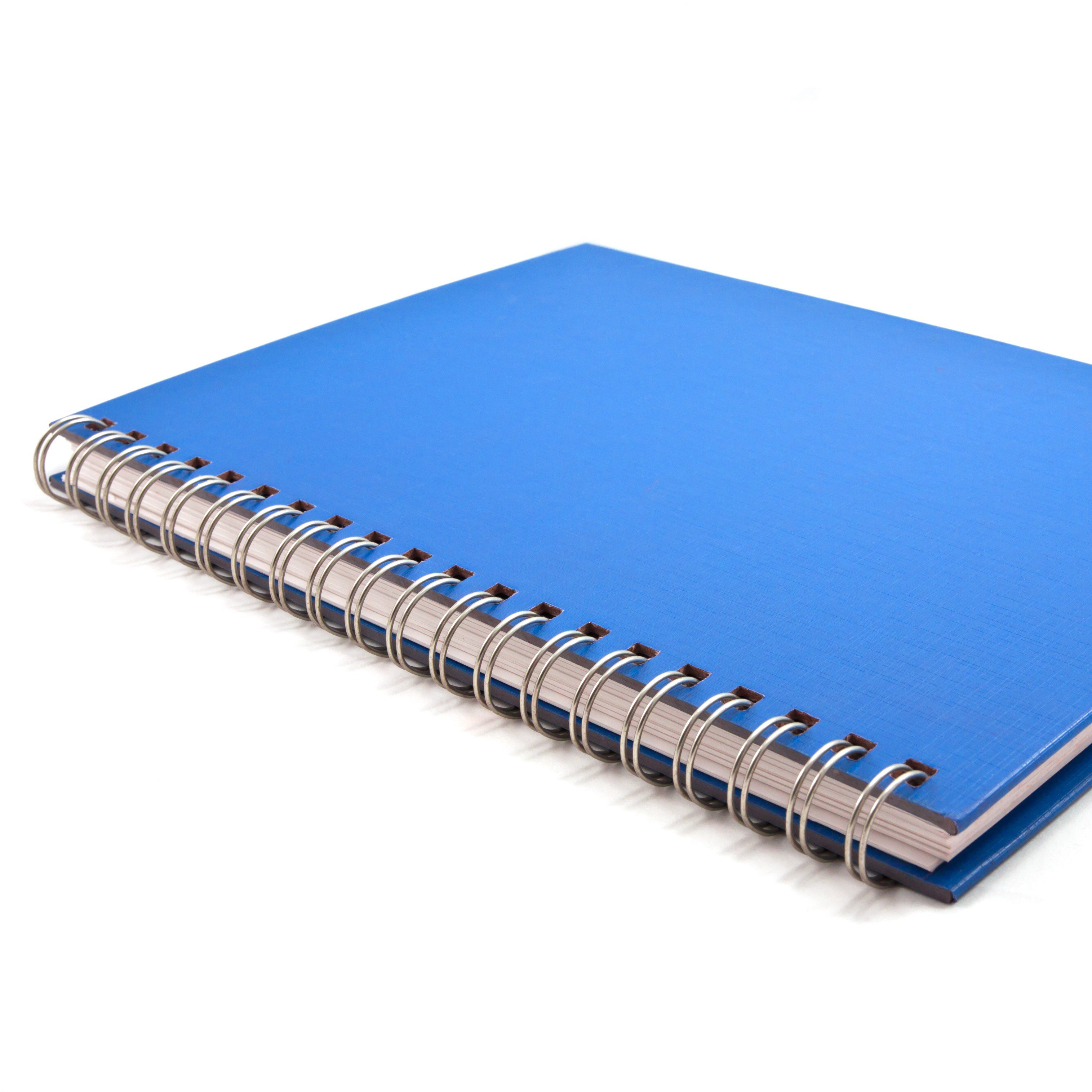 Blue,Cover,Of,Notebook,Isolated,On,White,Background